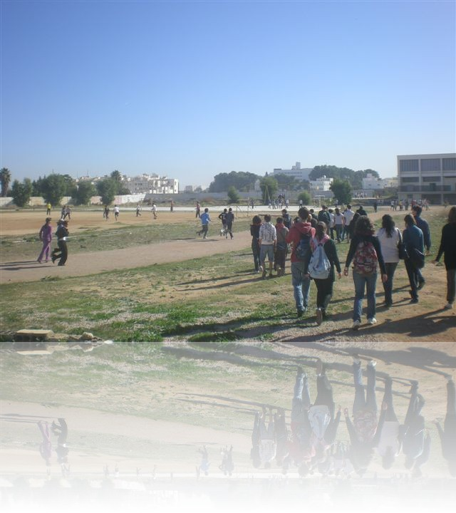 Campo sportivo del liceo Moulay Ismail a Meknes