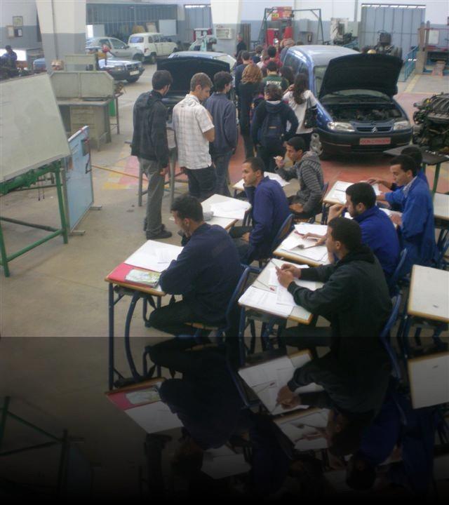 I nostri compagni marocchini del liceo di Meknes, indirizzo di meccanica