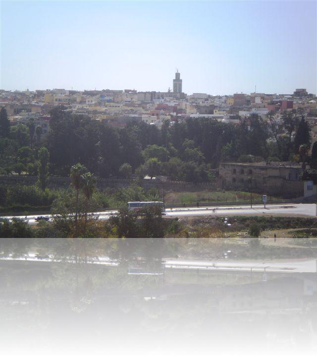 Meknes, con le sue case di diverso colori