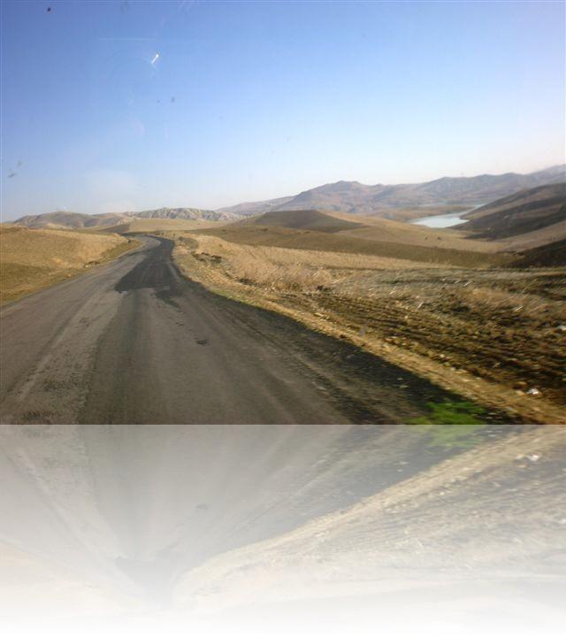 Tipico paesaggio arido che ricorda sempre più il deserto