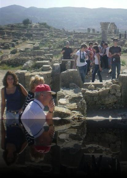 Volubilis era una piccola città di cui restano solo le colonne ed i mosaici sui pavimenti delle abitazioni